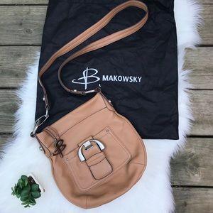 b makowsky caramel leather bag soft!